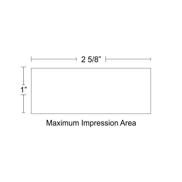 Customizable Trodat Professional 5205 Design Area