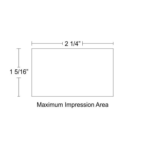 Customizable Trodat Professional 5206 Design area