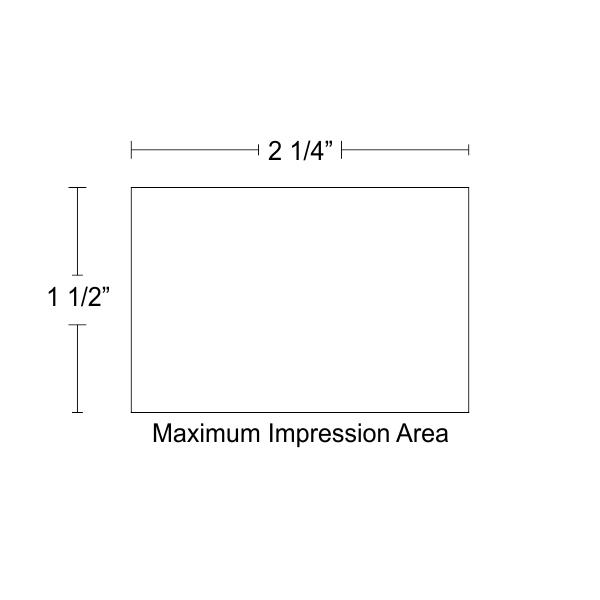 Customizable Trodat Professional 5207 design area