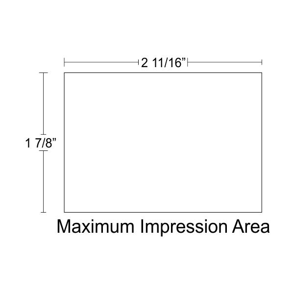 Customizable Trodat Professional 5208 design area