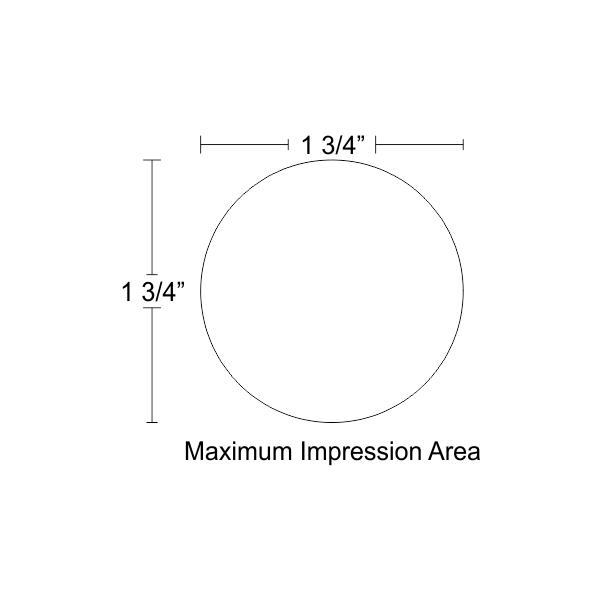 Customizable Trodat Round Professional 5215 Design Area