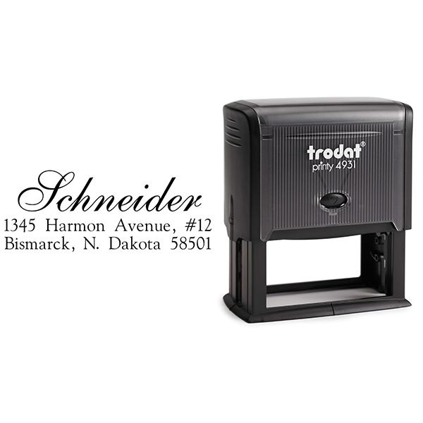 Schneider Script Address Stamp Body and Design