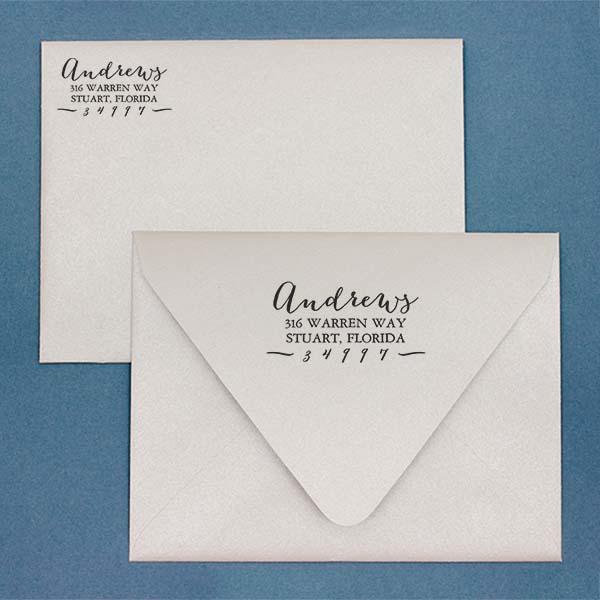 Andrews Hand Address Stamped envelopes