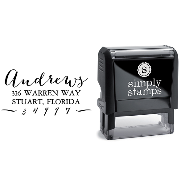 Andrews Hand Address Stamp & stamp model body