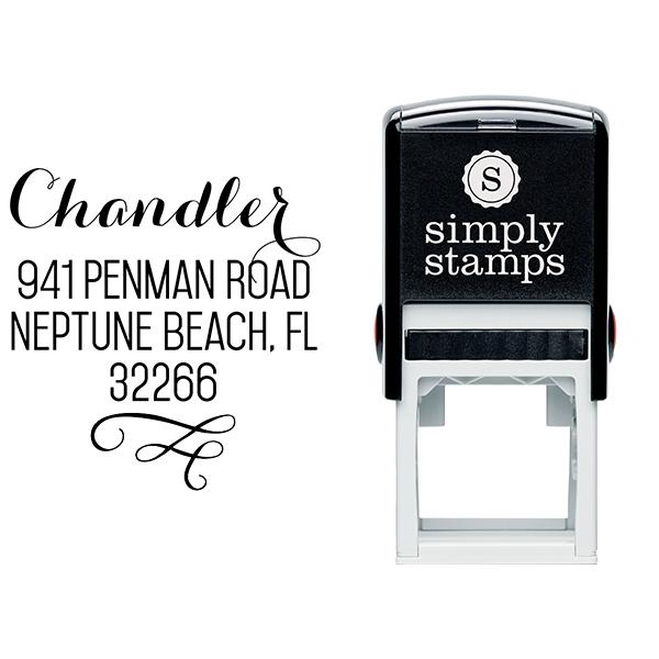 Chandler Swash Address Stamp Body and Design