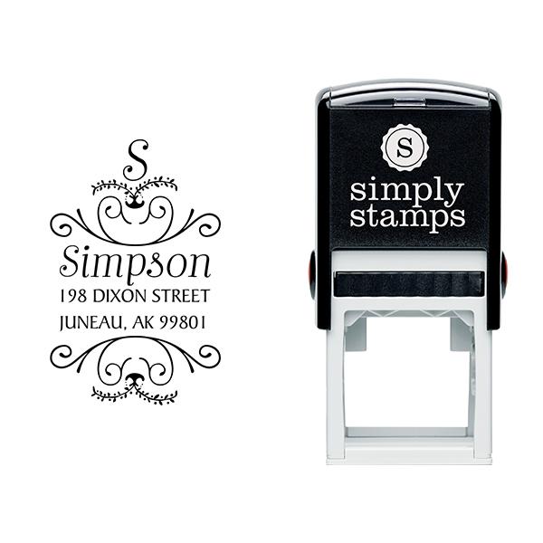 Simpson Ornamental Address Stamp Body and Design