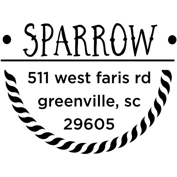 Sparrow Nautical Address Stamp