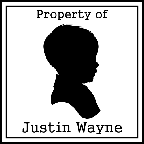 Boy Silhouette Personalized Rubber Stamp