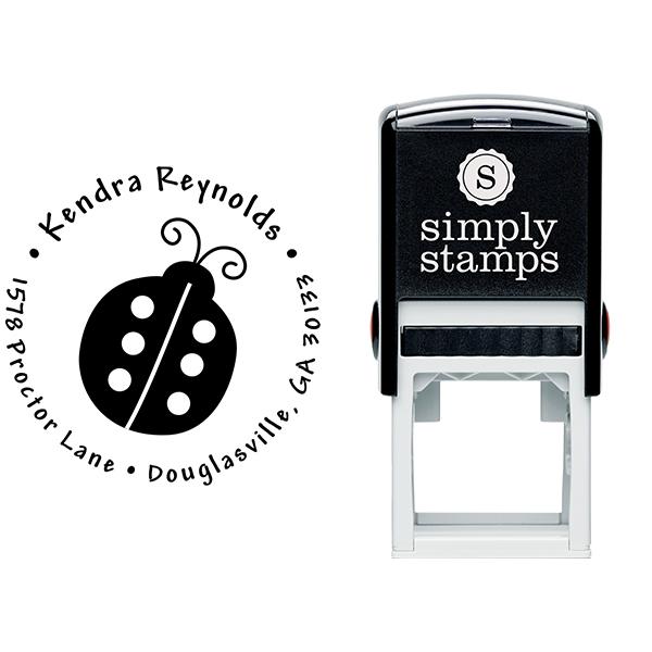 Ladybug Return Address Stamp Body and Design