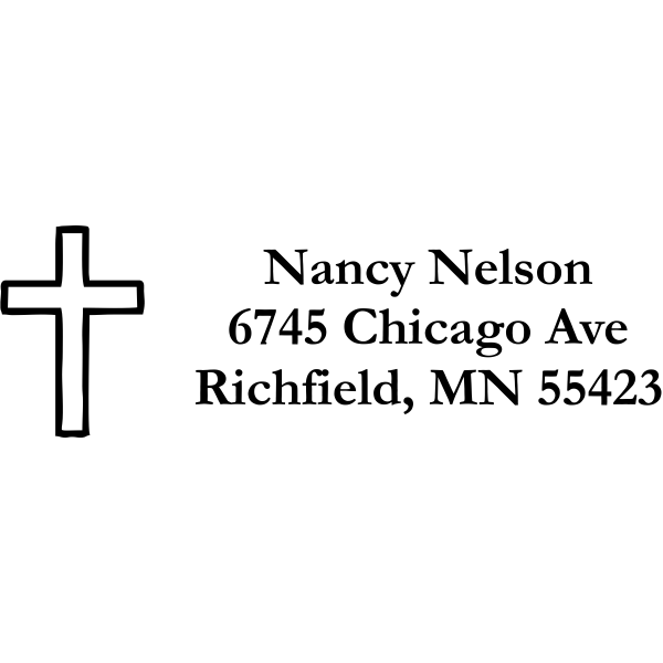 Cross Address Stamp