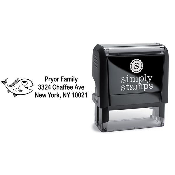 Big Fish Address Stamp Body and Design