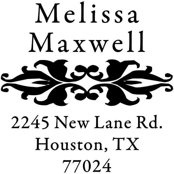 Floral rubber address stamp
