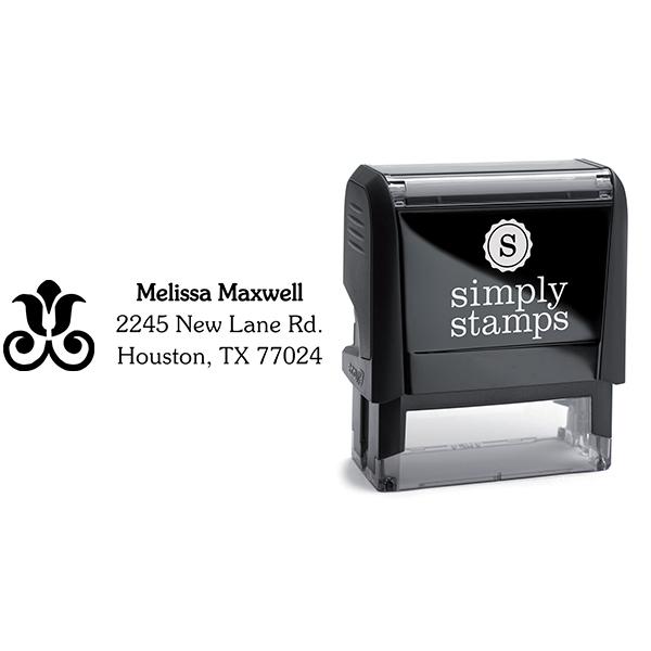 Rose Decor Address Stamp Body and Design