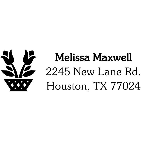flower basket address stamp