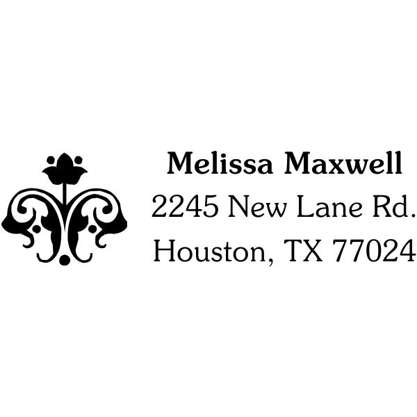 flower design address stamp
