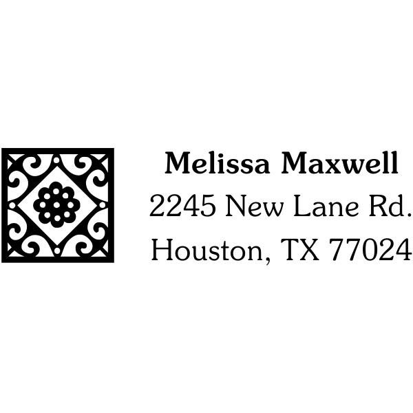 Deco Style Tile Fancy Address Stamp