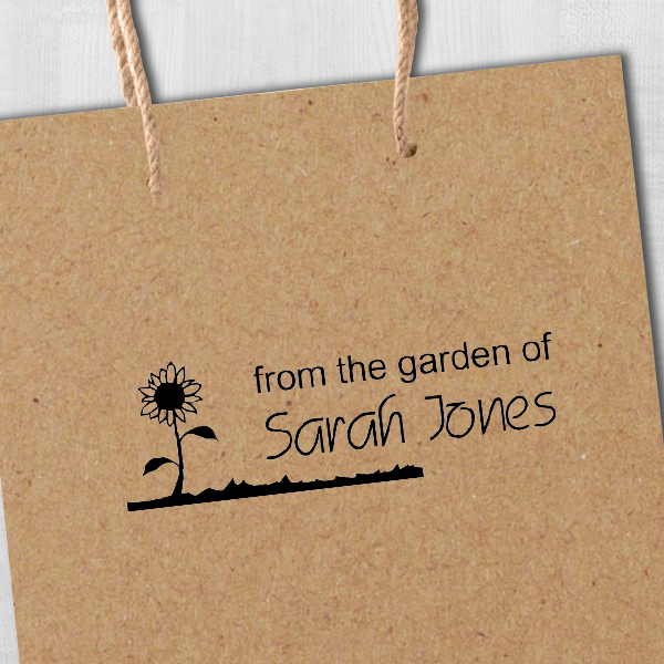 From The Garden Of Stamp Imprint Example