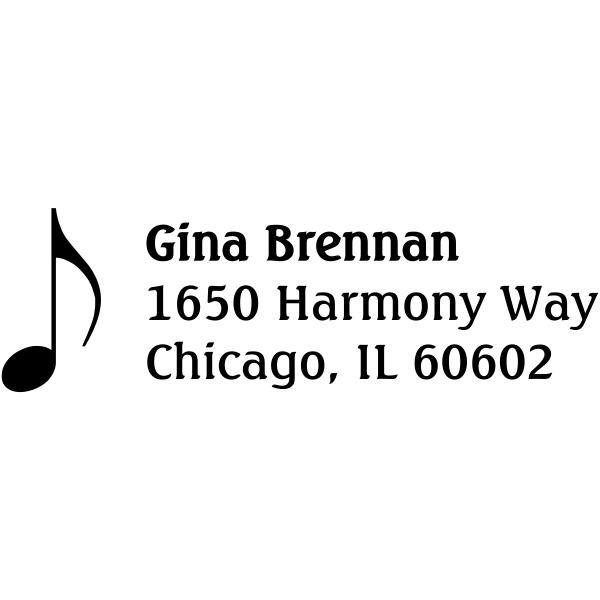 music note address stamp