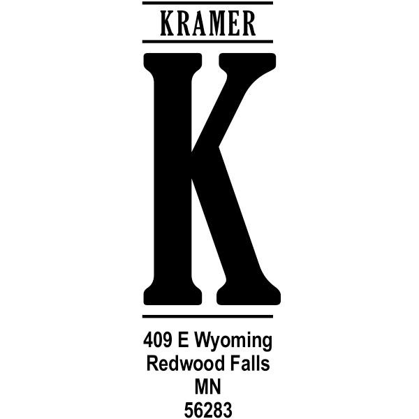Vertical Capital Address Stamp