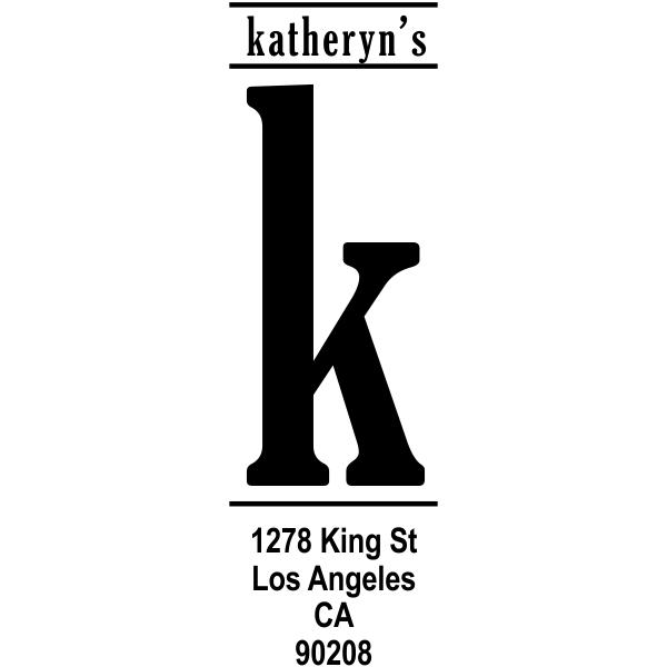 Vertical Lowercase Address Stamp