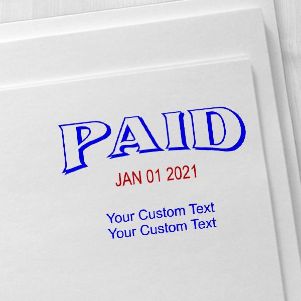 Paid Custom Date Stamp Imprint Example