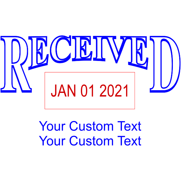 Received Custom Date Stamp Design