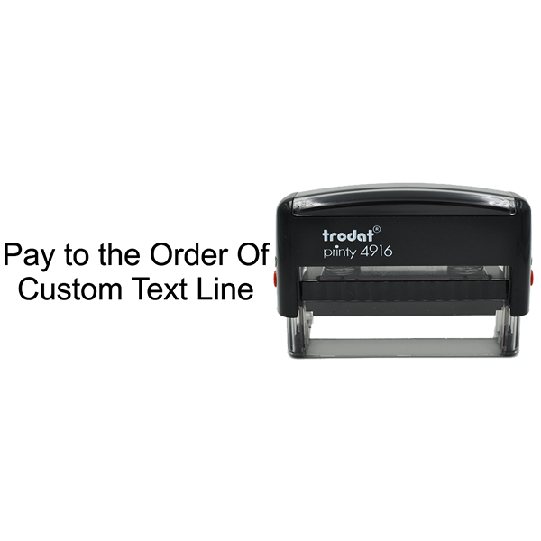 Pay To The Order Of Stamp Body and Design