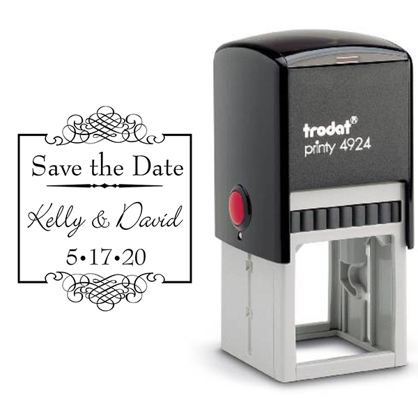 Save The Date Rubber Stamp Body and Design