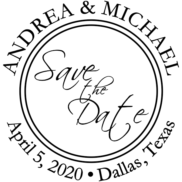 Save The Date Round Stamp