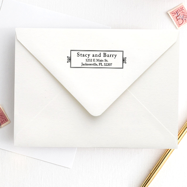Formal Plate Address Stamp Imprint Example