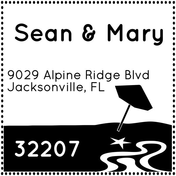 Beach Return Address Stamp
