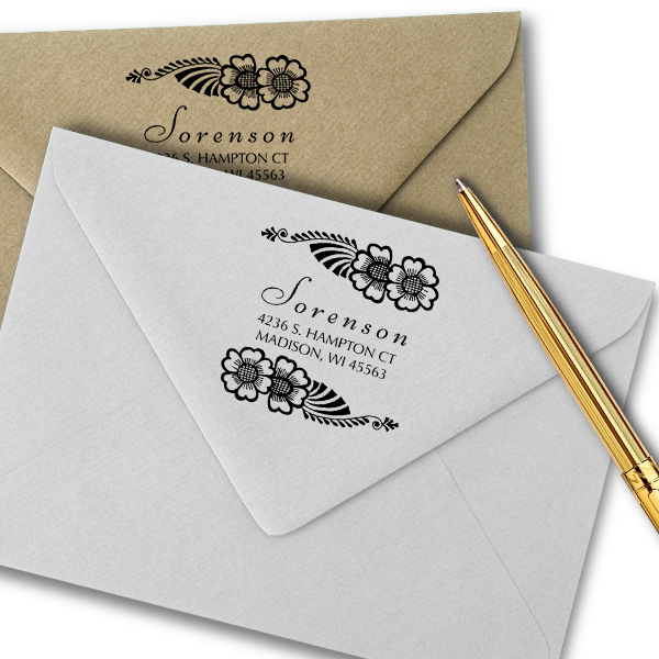 Sorensen Flowers Address Stamp Imprint Example