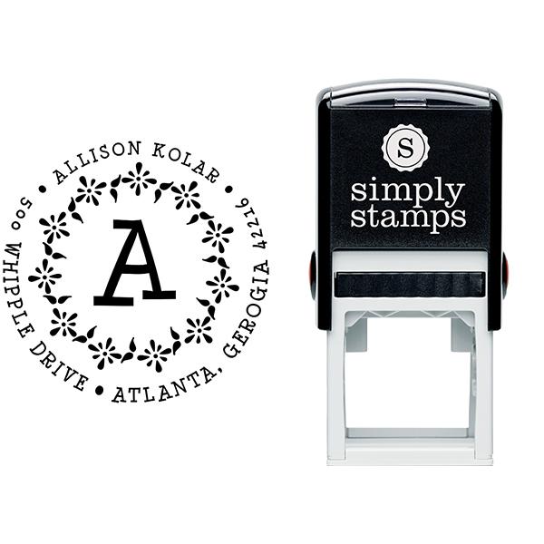 Dots & Splats Address Stamp Body and Design