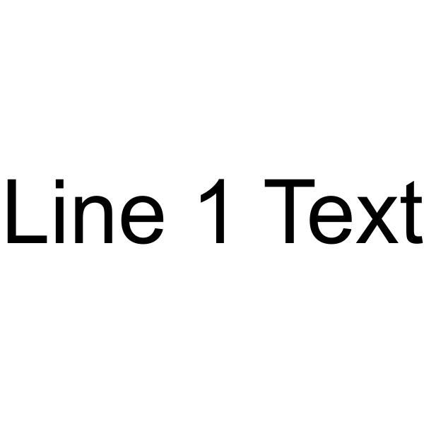 Custom 1 Line Text Custom Rubber Stamp