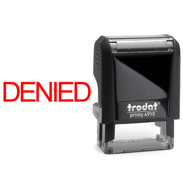 Denied Stock Stamp Body and Design