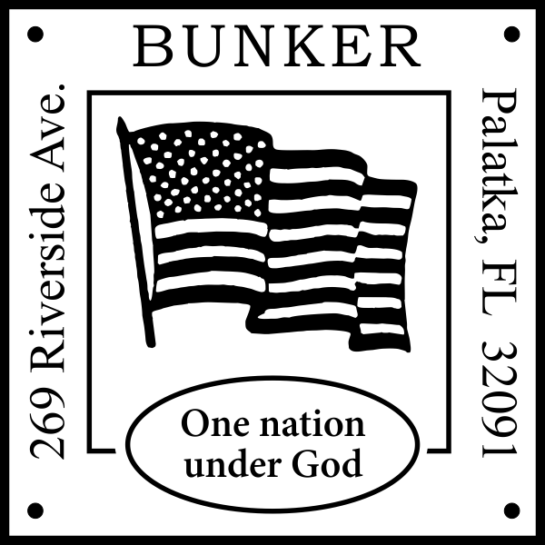 Patriotic Address Stamp