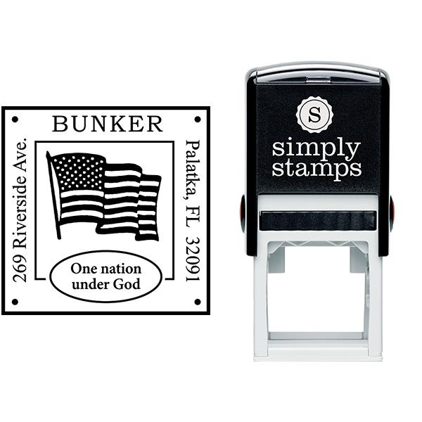 Patriotic Address Stamp Body and Design