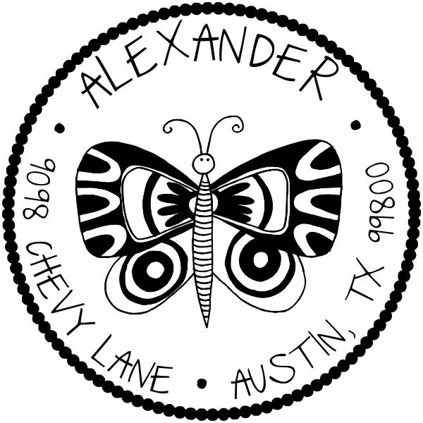 return address stamp design