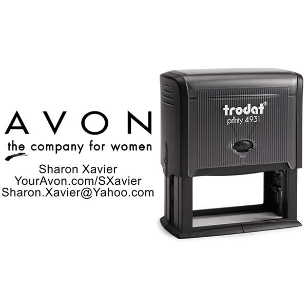 Custom Avon Consultant Stamp Style 1 Body and Design