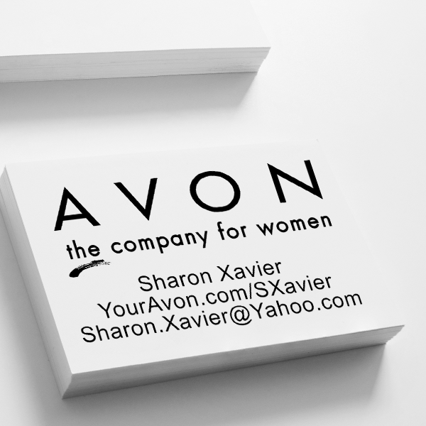 Custom Avon Consultant Stamp Style 1 Imprint Example