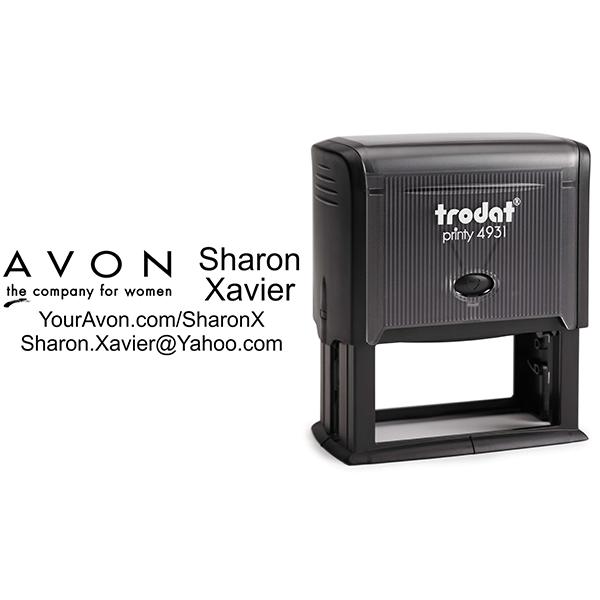 Custom Avon Consultant Stamp Style 2 Body and Design