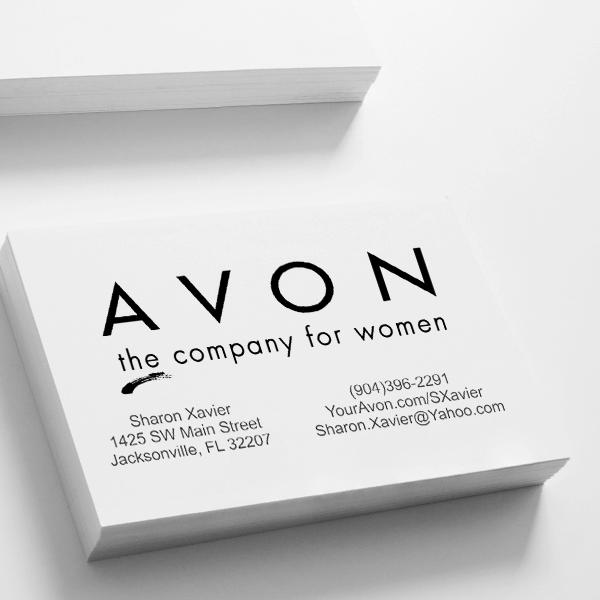 Custom Avon Consultant Stamp Style 3 Imprint Example