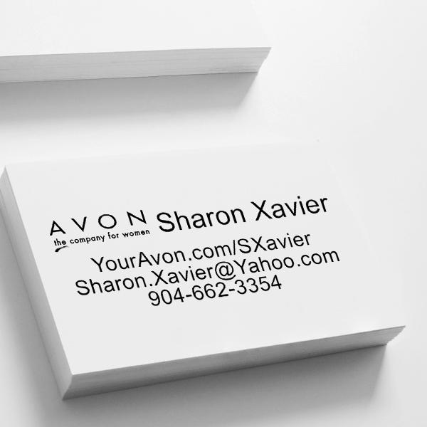 Custom Avon Consultant Stamp Style 5 Imprint Example