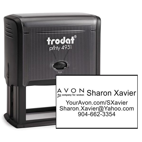 Custom Avon Consultant Stamp Style 5