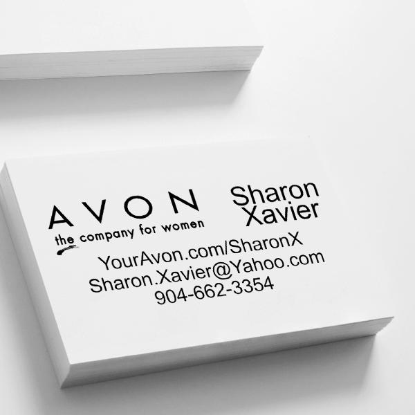 Custom Avon Consultant Stamp Style 6 Imprint Example
