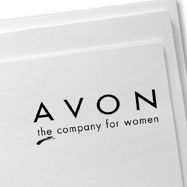 Avon Consultant Logo Stamp Imprint Example