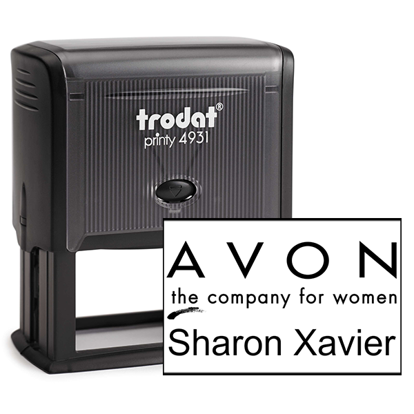 Custom Avon Consultant Stamp Style 8
