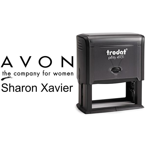 Custom Avon Consultant Stamp Style 8 Body and Design