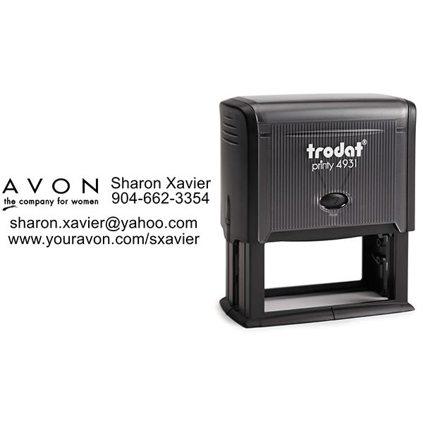 Custom Avon Consultant Stamp Style 9 Body and Design
