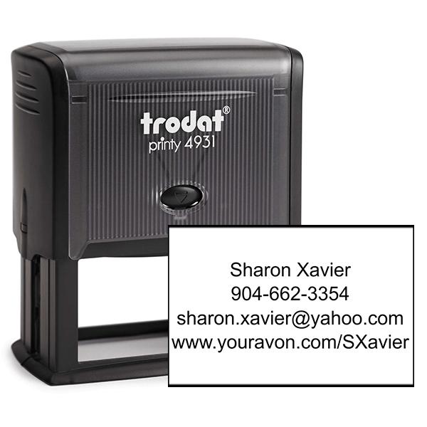 Custom Avon Consultant Stamp Style 10
